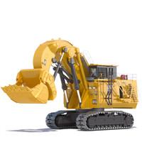 mining excavator 6090 fs 3d max