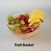 3d fruit basket model