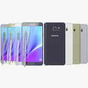 Samsung galaxy note 5 3D models