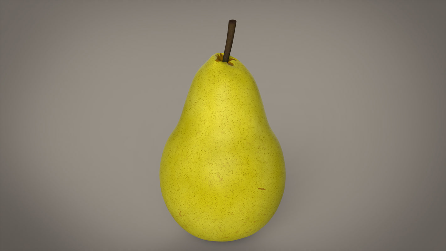 3d model photorealistic pear