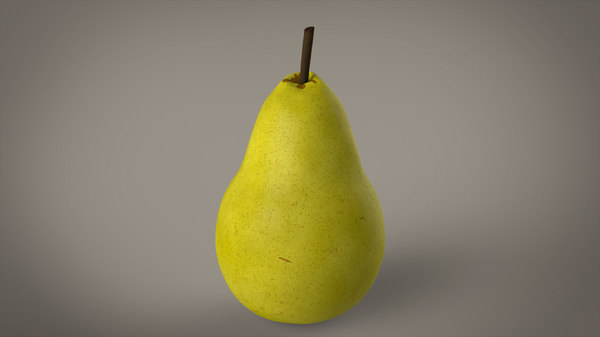 3d model photorealistic pear