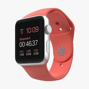 3d apple watch sport pink