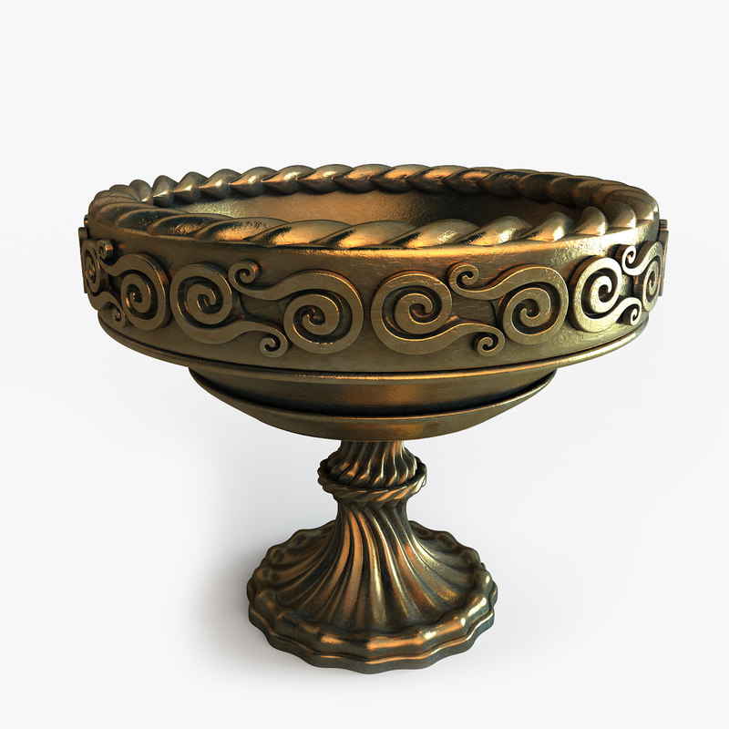 3d model bowls aztec