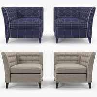 3d model sofa chair company bennet