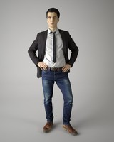 3d body scan man fashion model