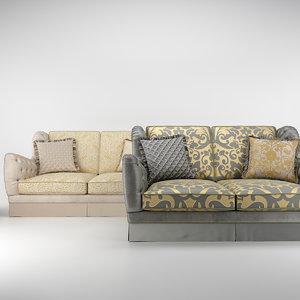 3d bruno zampa cameron sofa model