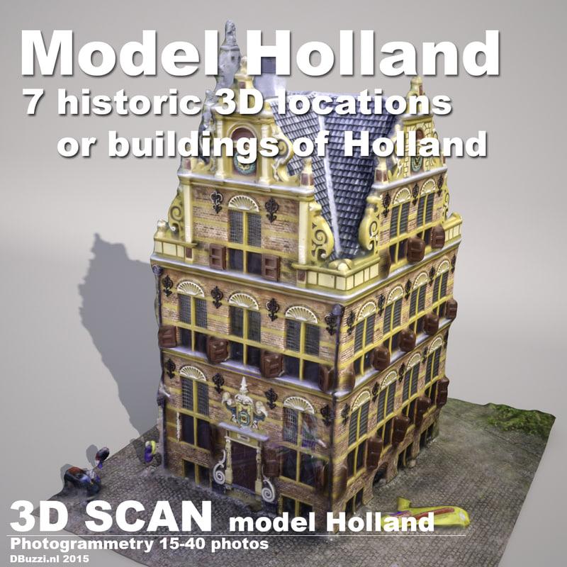 3d model buildings holland