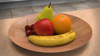 photorealistic fruit 5 obj