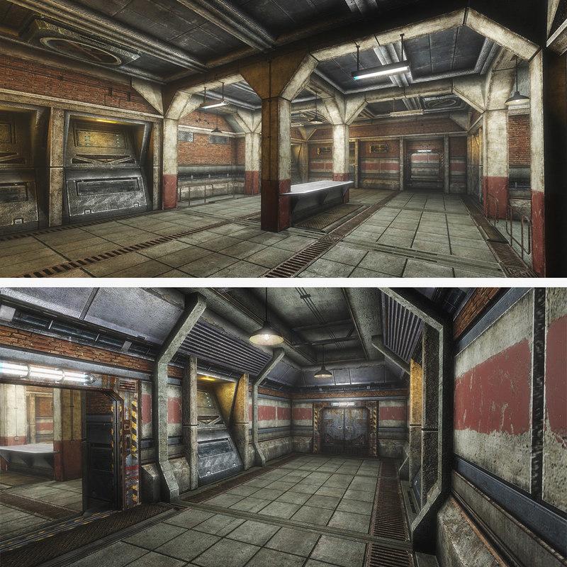 3ds sci-fi interior armory