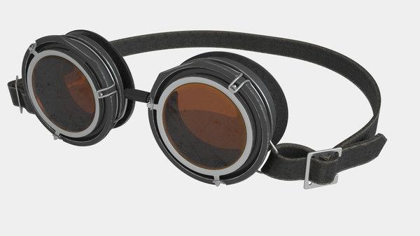 vintage goggles 3d max