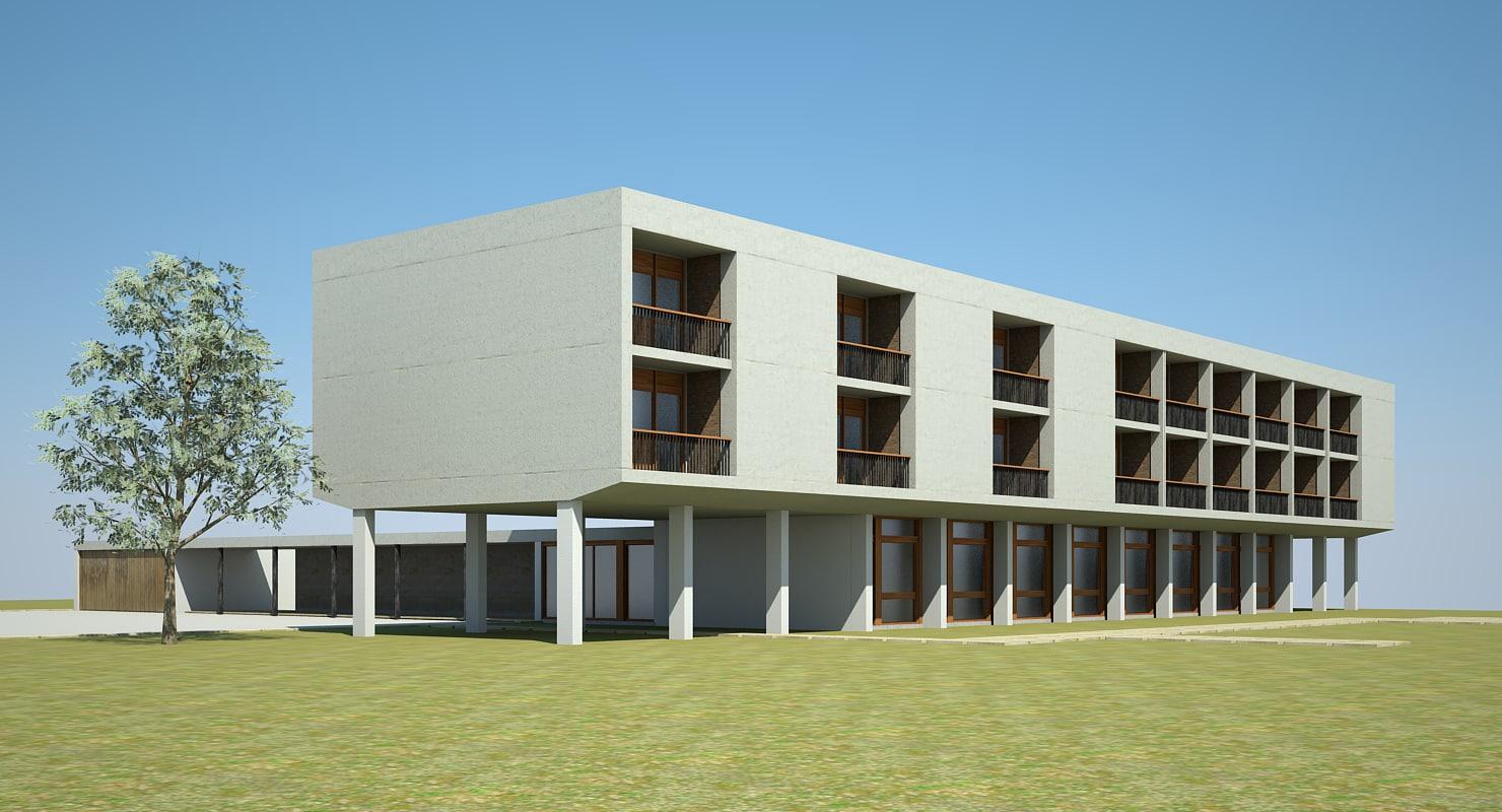 3dsmax modern building