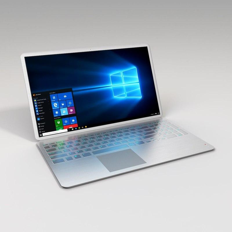 3ds max metallic laptop