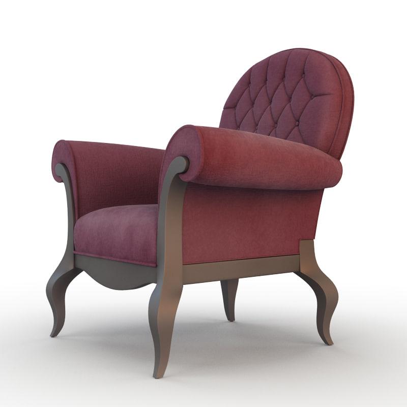 chair armchair modern 3d model