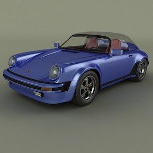 3d model porsche 911 speedster