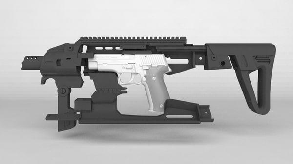 pistol conversion 3d model