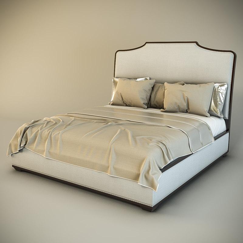 3d model bernhardt haven upholstered platform