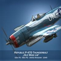 Republic P-47D Thunderbolt - Ole Miss Lib