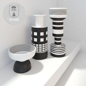 3d model modern ceramic vases bitossi