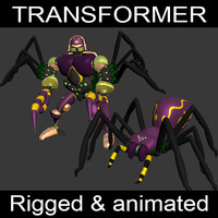 tarantulas transformation 3d max