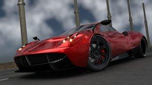 3d huayra carbon car model