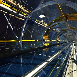3ds max space tunnel structures