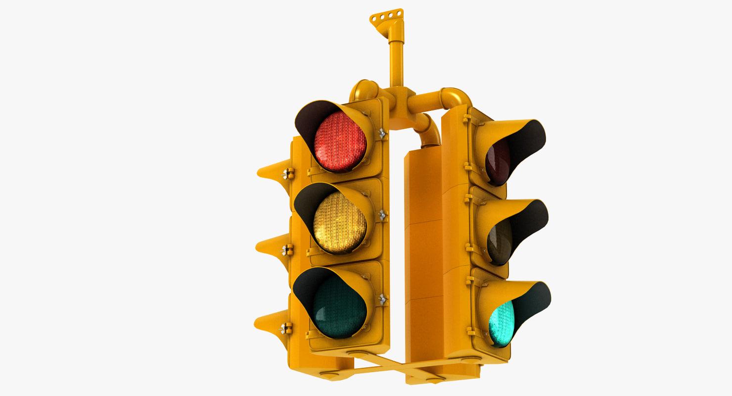 3ds max traffic light