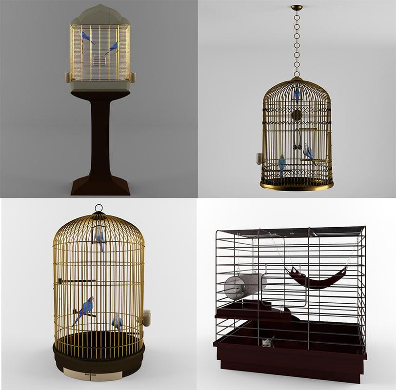 3d max cage parrot rat