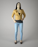 3d body scan woman fashion