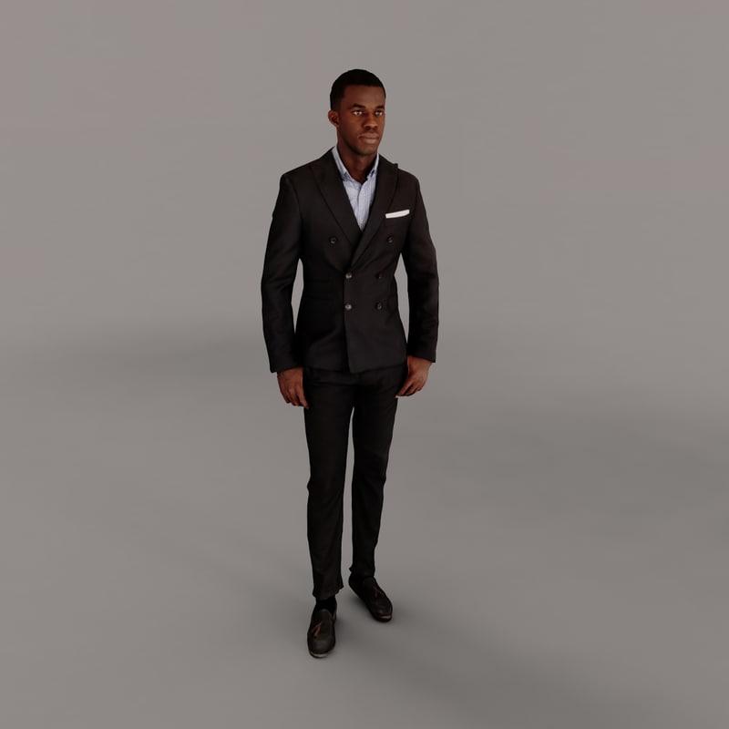 3d man businessman