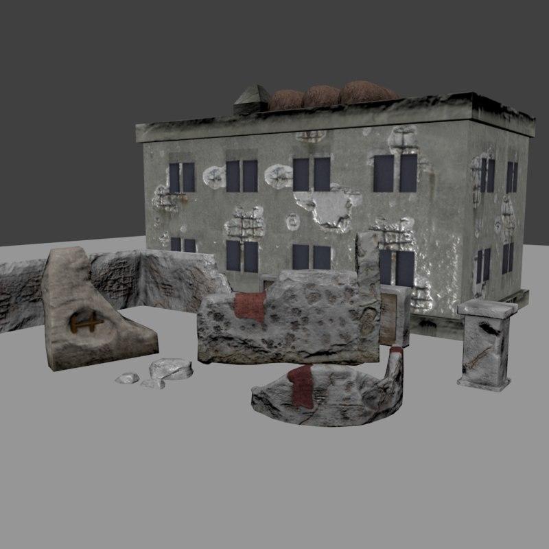 ruin s pack 3d model