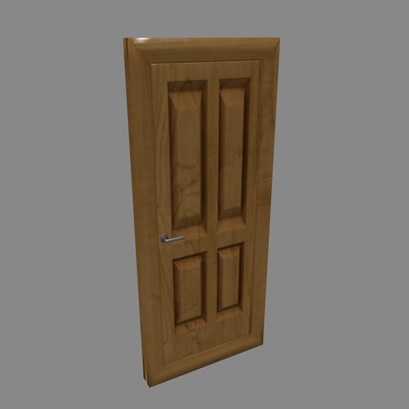 stylized door 3ds