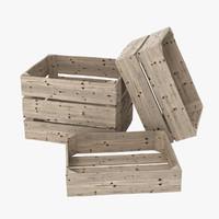 wooden crates 3d model
