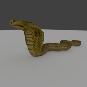 3ds snake rigged animate