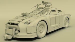3d model nissan gtr