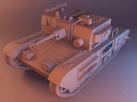 tank included gun 3d model