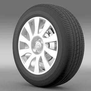 opel vivaro van wheel obj
