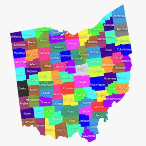 3d ohio counties