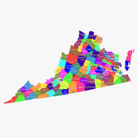 3d virginia counties model
