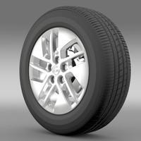 3d opel vivaro wheel 2015