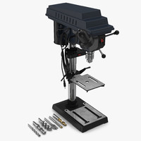 Delta Drill Press with Drill Bits