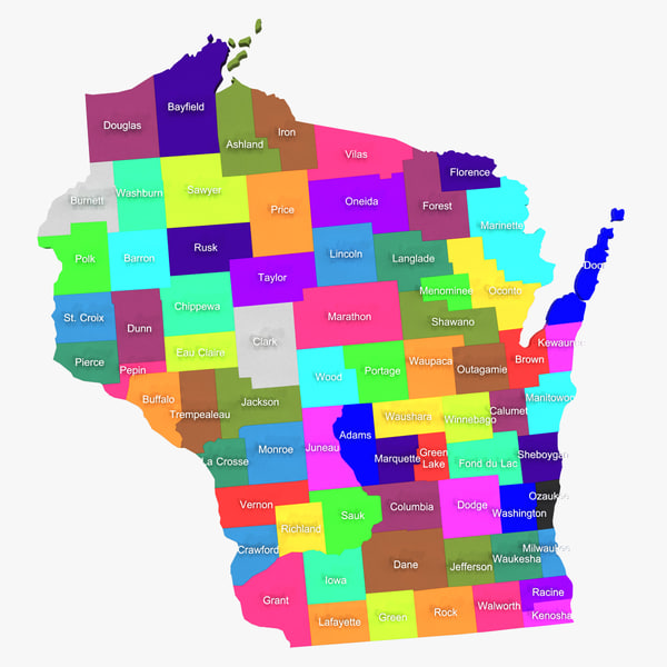 3d wisconsin counties