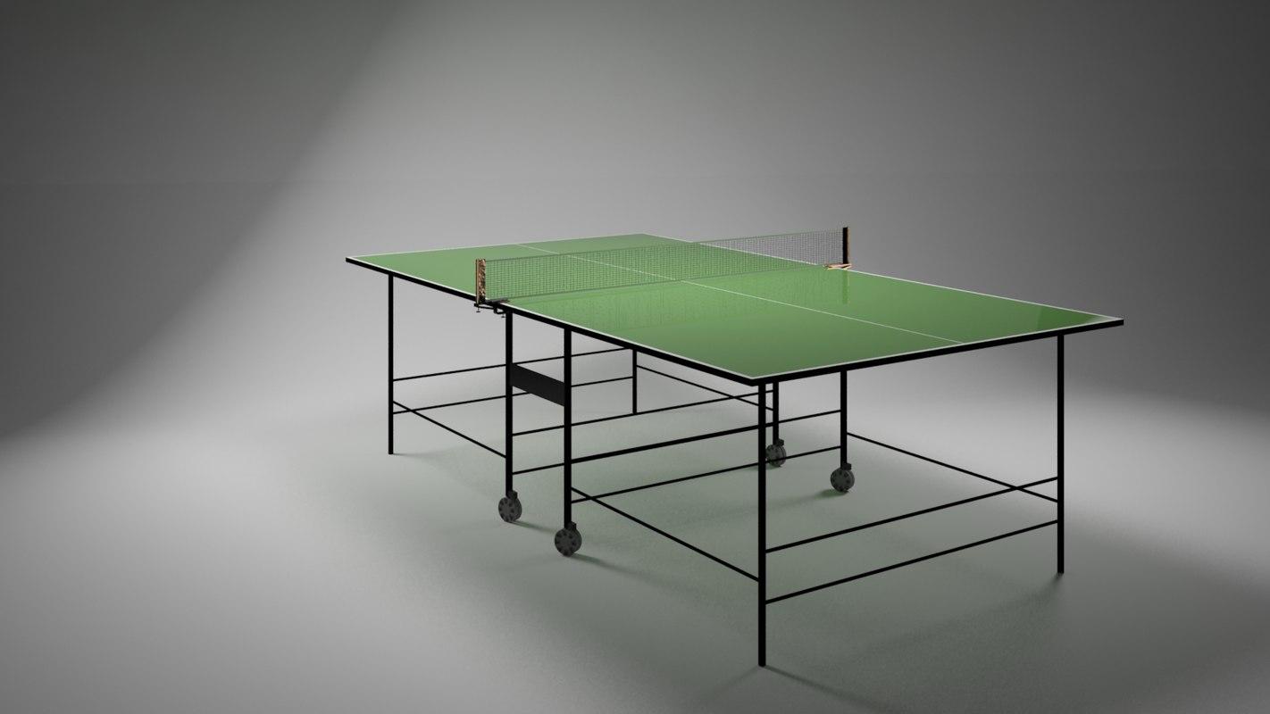 ping pong table 3d max