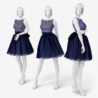 Woman Mannequin Dress
