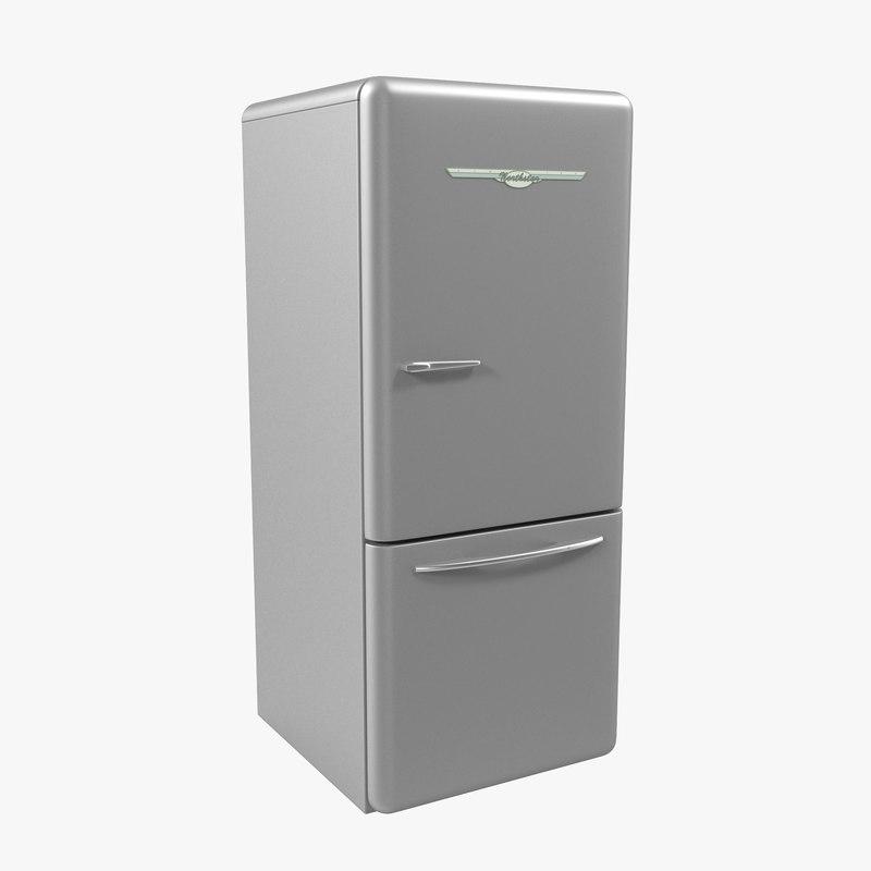 3d model retro refrigerator elmira northstar