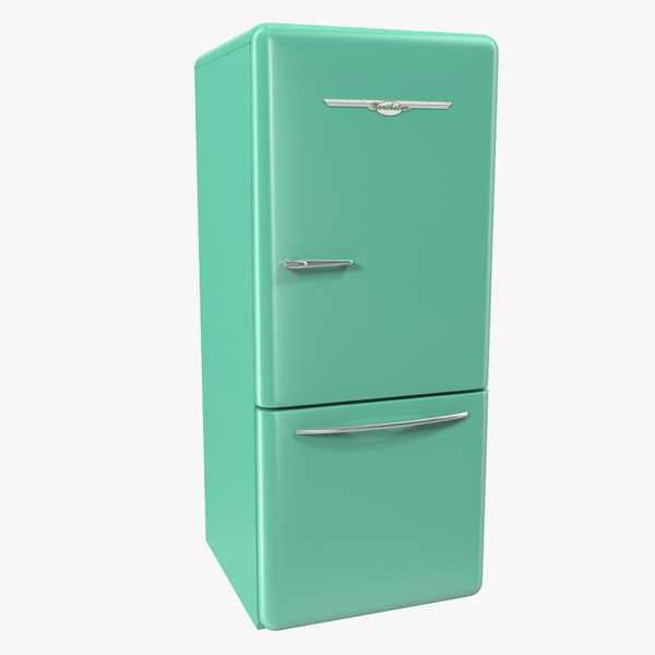 retro refrigerator elmira northstar 3d model