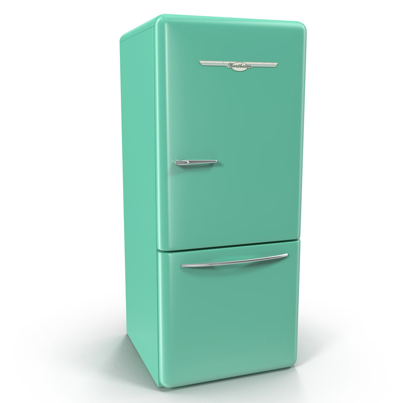 retro refrigerator elmira northstar 3d model