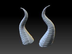 3d model maleficient horns