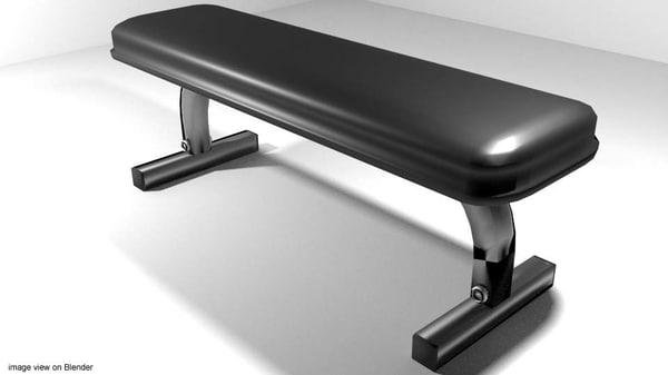 3d exercise flat bench
