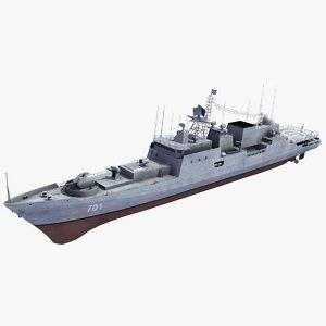 3d model admiral grigorovich class frigate