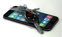 3d model cell phone keys